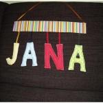 Namensschild Jana