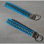 Schlüsselband Tropfen auf blau